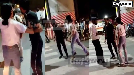 Viral video  Girl thrashes taxi driver in middle of street