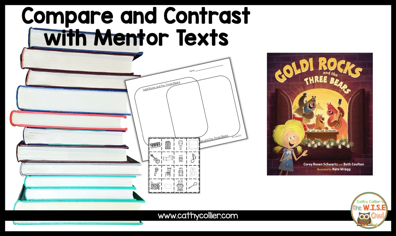 Goldi Rocks and the Three Bears is a great introduction to Compare and Contrast. What a fun twist on an old favorite.