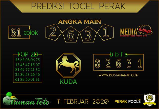 Prediksi Togel PERAK TAMAN TOTO 11 FEBRUARY 2020