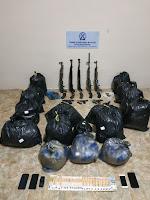 Συνελήφθησαν δύο μέλη εγκληματικής οργάνωσης,   για διακίνηση μεγάλης ποσότητας   ακατέργαστης κάνναβης και όπλων,  από αστυνομικούς της Διεύθυνσης Αστυνομίας Φλώρινας