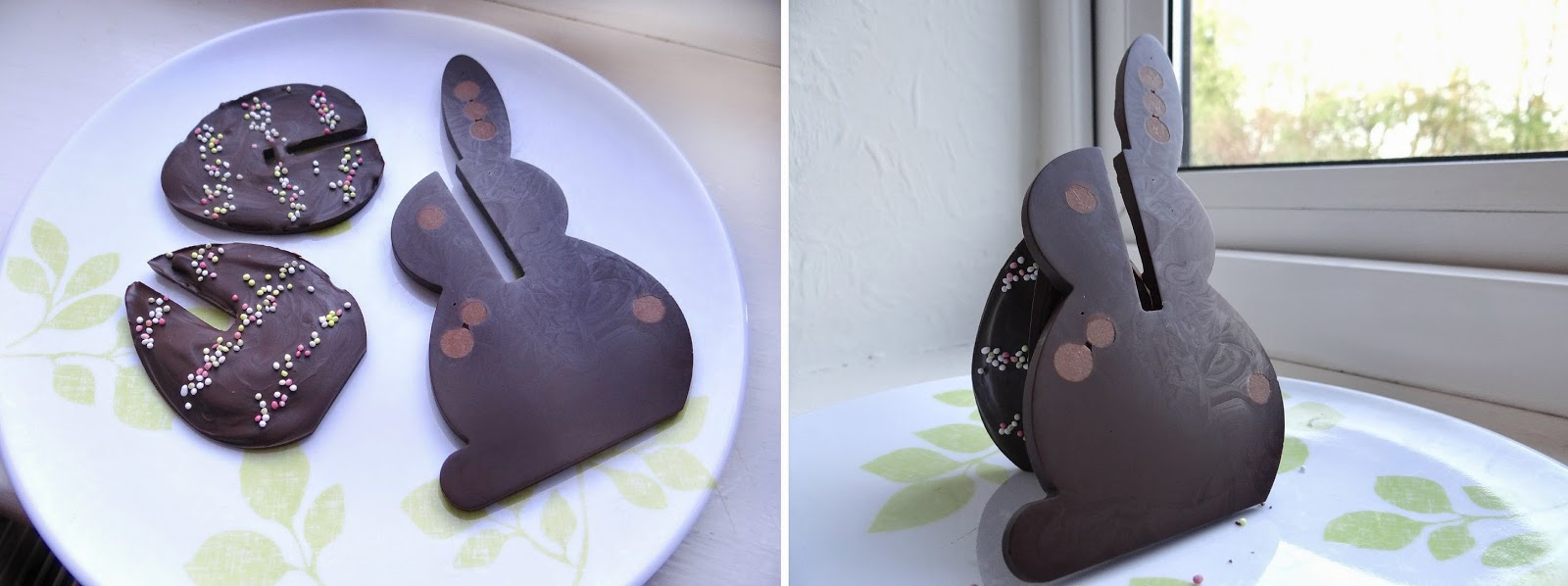 Lekue Easter chocolate mould, 3D chocolate egg mould, 3D chocolate rabbit mould