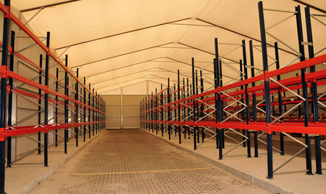 interior almacén industrial carpas expandi zaragoza