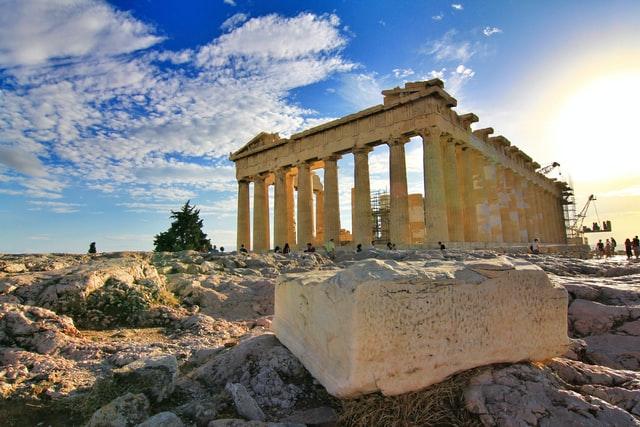 El partenón en Atenas, Grecia