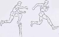 Melampaui gawang dengan menginjakkan sebelah kaki di atas gawang.