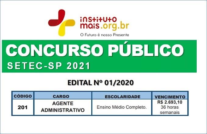 Aberto concurso público 2021 para Agente Administrativo (Nível Médio) com salário de R$ 2.693,10. Saiba Mais
