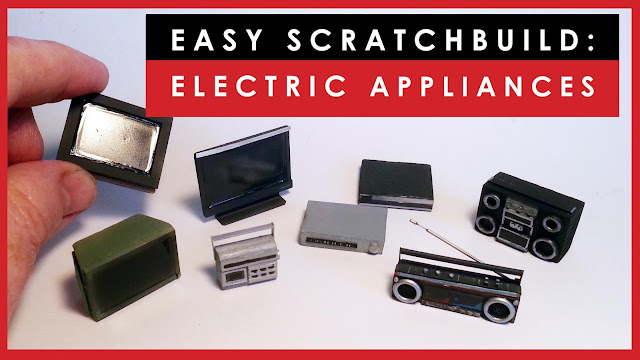 How to scratch build scale model electric appliances for dioramas or dollhouses