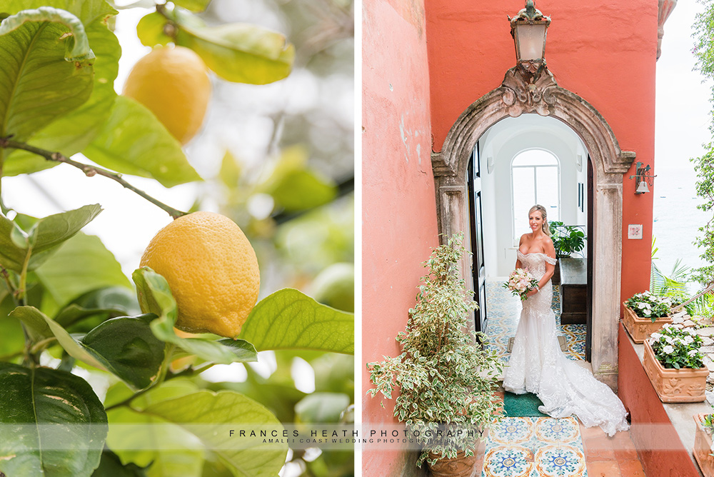 Bride portrait & lemon tree