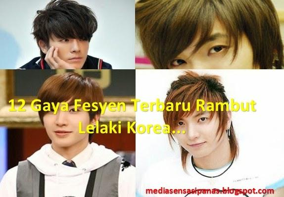12 Gambar Terkini Gaya Rambut Lelaki Korea Yang Mesti Anda ...