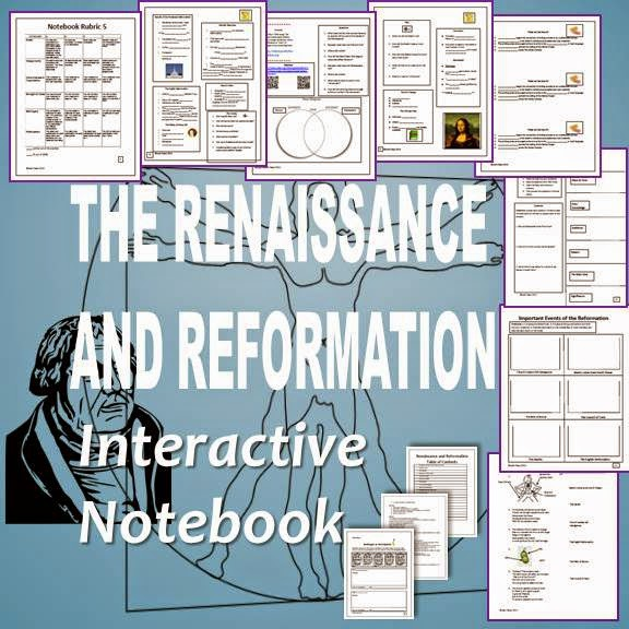 The Renaissance and Reformation Interactive Notebook