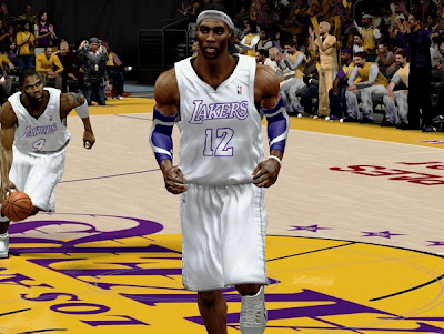 NBA 2K13 Lakers White Christmas Jersey Patch Download