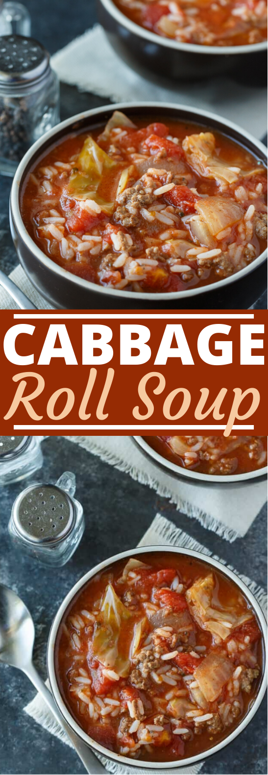 Cabbage Roll Soup #dinner #soup #recipes #comfortfood #healthy