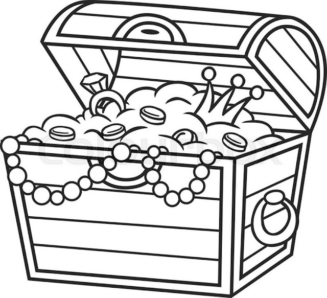 caja de joyas para colorear