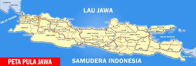 Gambar Peta Jalan Kota Jawa