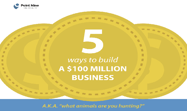 5 Ways to Build a $100 Million Business #infographic