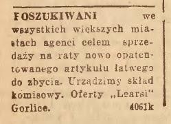 Gorlice agenci handel 1937