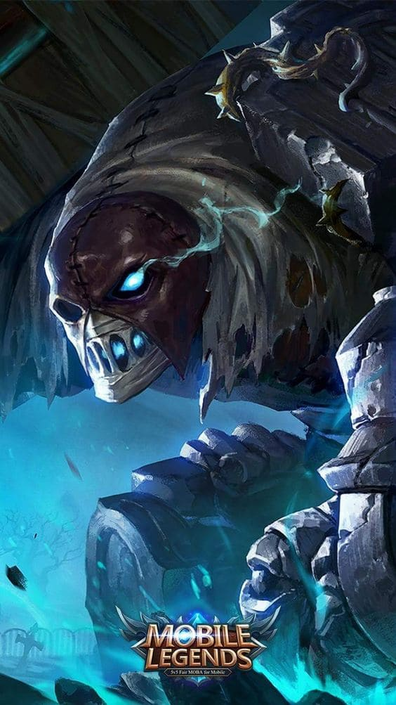 Wallpaper Grock Grave Guardian Skin Mobile Legends HD for Android and iOS