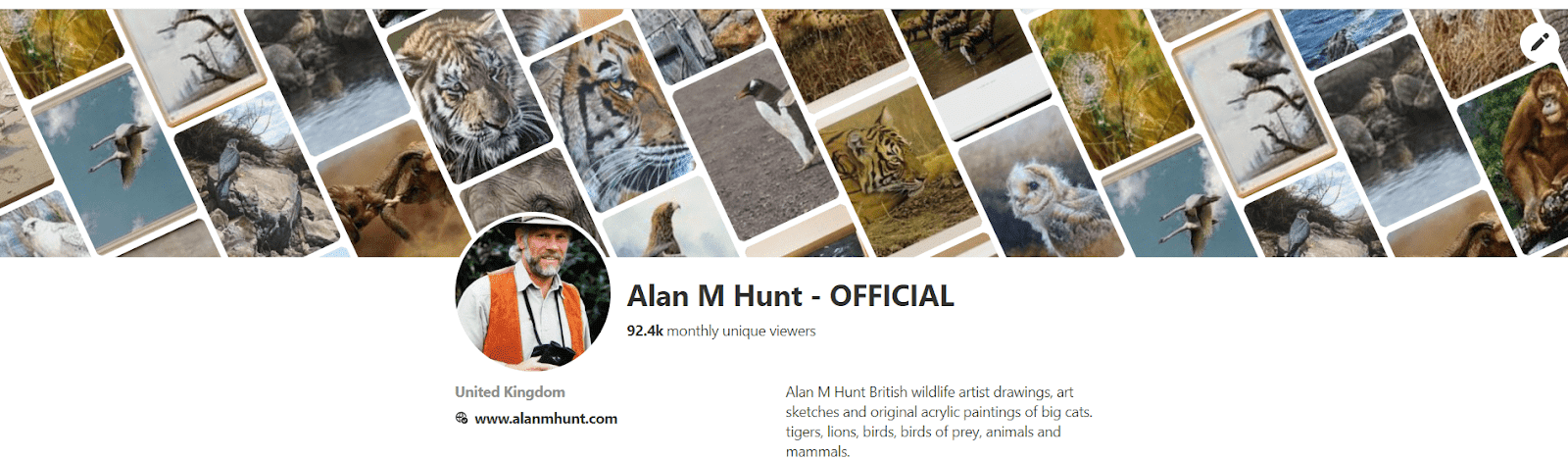 British Animal Artist Alan M Hunt