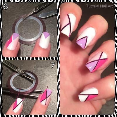 unghie create con filo adesivo e colori del 2016