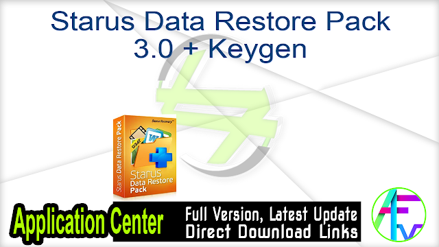 Starus Data Restore Pack 3.0 + Keygen