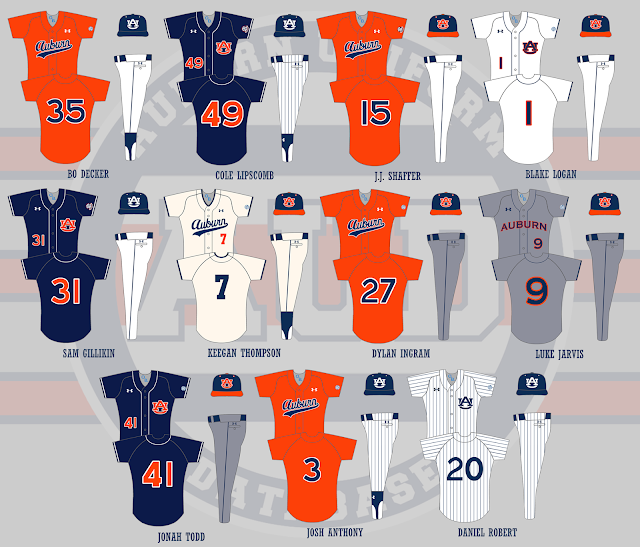 auburn baseball 2017 uniforms