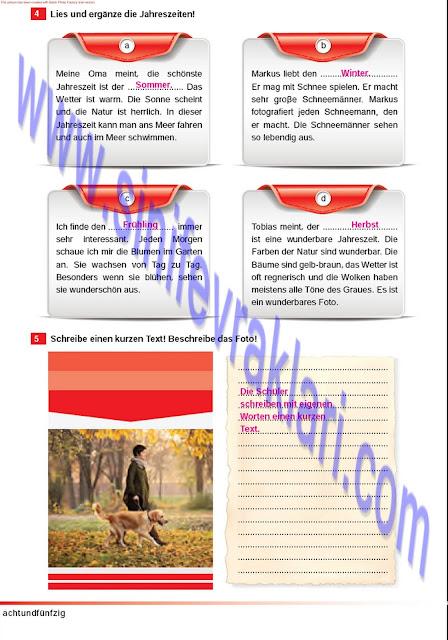 Almanca A1.2 Çıpa Yayınları Çalışma Kitabı Cevapları Sayfa 58