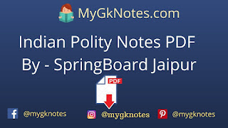 Indian Polity Notes PDF By - SpringBoard Jaipur