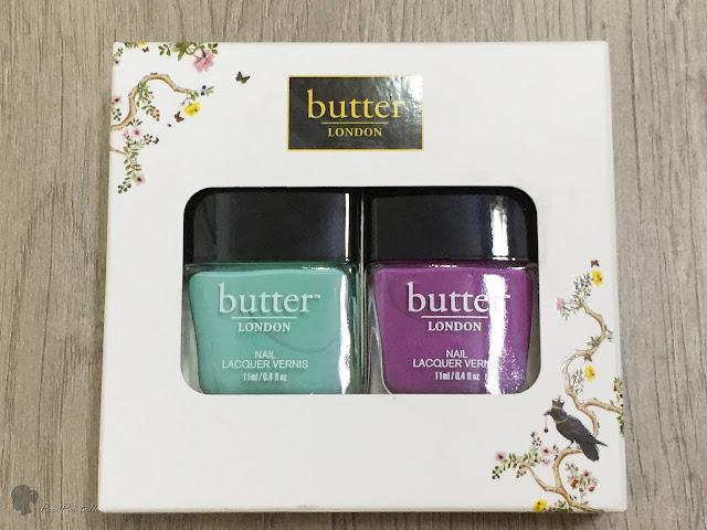 butter LONDON 指甲油 --A piece of cake & 沁涼薄荷-試色