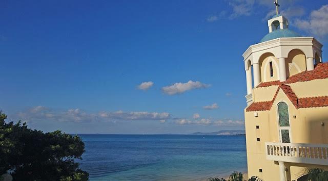 リザンシーパークホテル谷茶ベイの海の写真