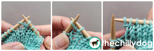 Knitting Tutorial: Increasing stitches with a knit front back (kfb)