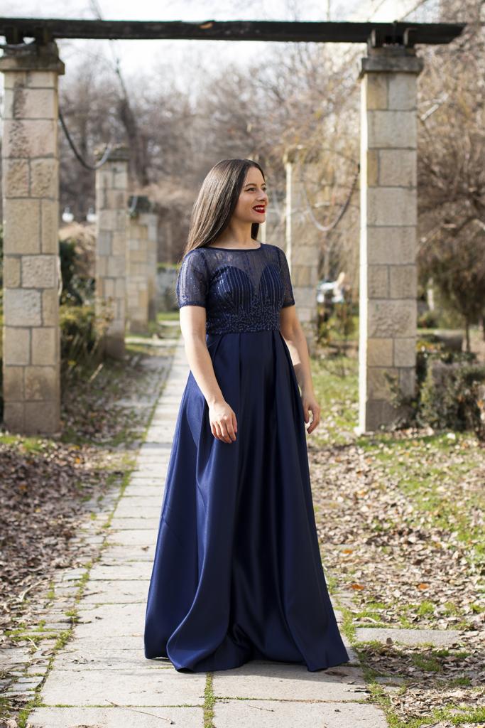 adina nanes navy blue dress