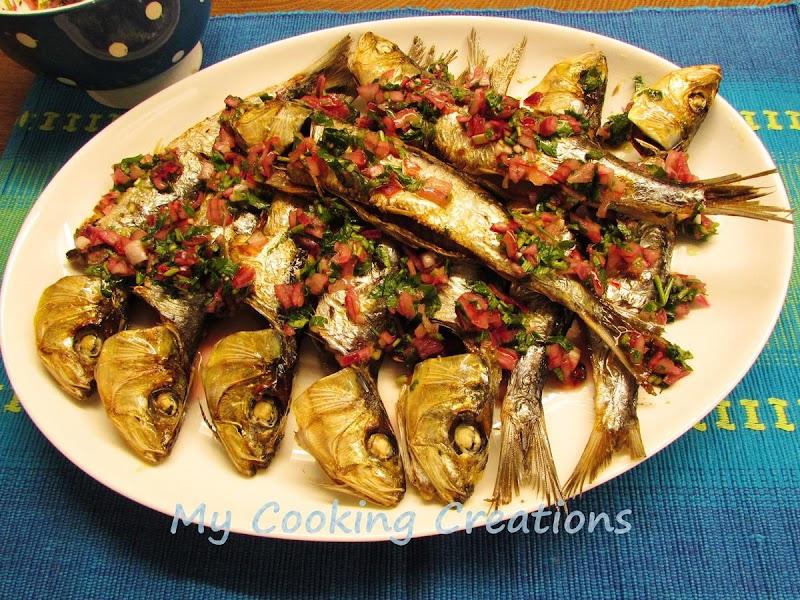 Сардини на фурна със салца * Sarde al forno
