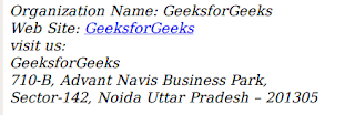 penggunaan tag address pada html untuk membuat keterangan alamat