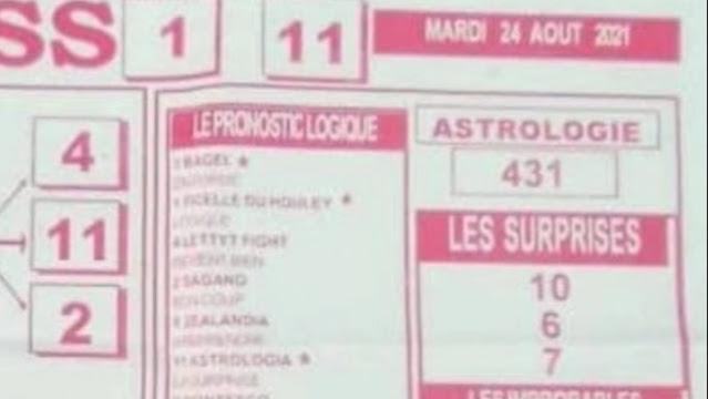 Pronostics quinté pmu Mardi Paris-Turf TV-100 % 24/08/2021