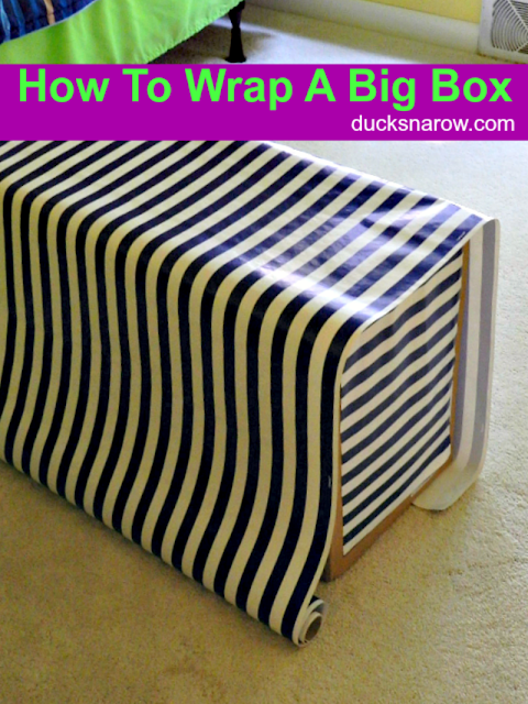 wrapping a Rockabye Rocker for a gift