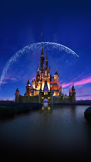 Disney Castle Artwork Mobile HD Wallpaper