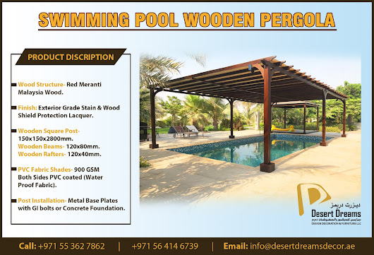 SWIMMING POOL PERGOLA IN UAE.