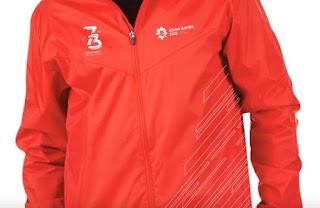 Logo HUT RI ke 73 2018 di Jaket Merah