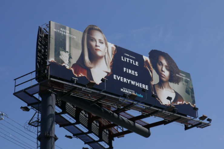 Little Fires Everywhere extension billboard