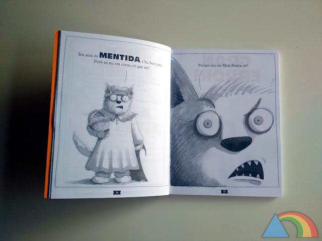 Interior de un libro de la colección Animalotes