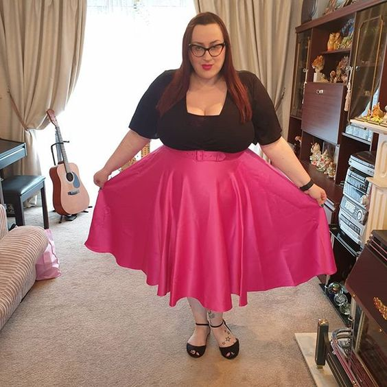 Vixen Satin Pink Skirt