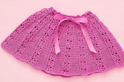 3 - Crochet Imagen Falda a conjunto con blusa veraniega a crochet y ganchillo por Majovel Crochet