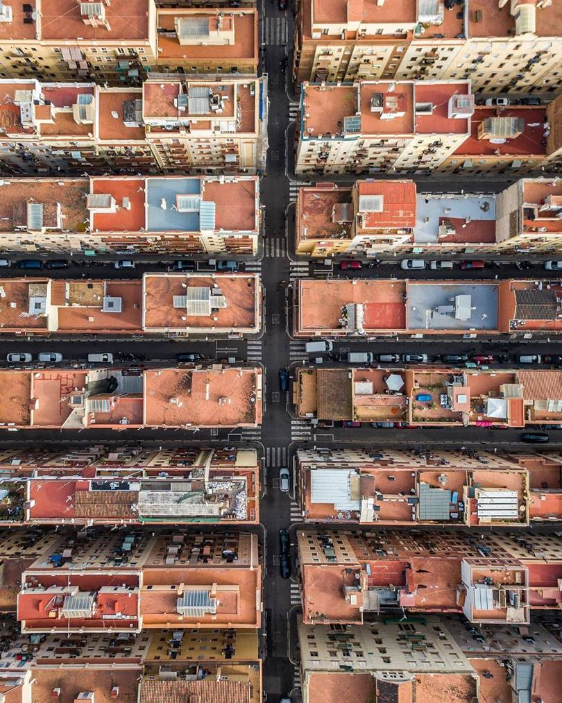 A fascinating photo series Barcelona from above, Aerial view of Barcelona, Marton Mogyorosy aerial photography