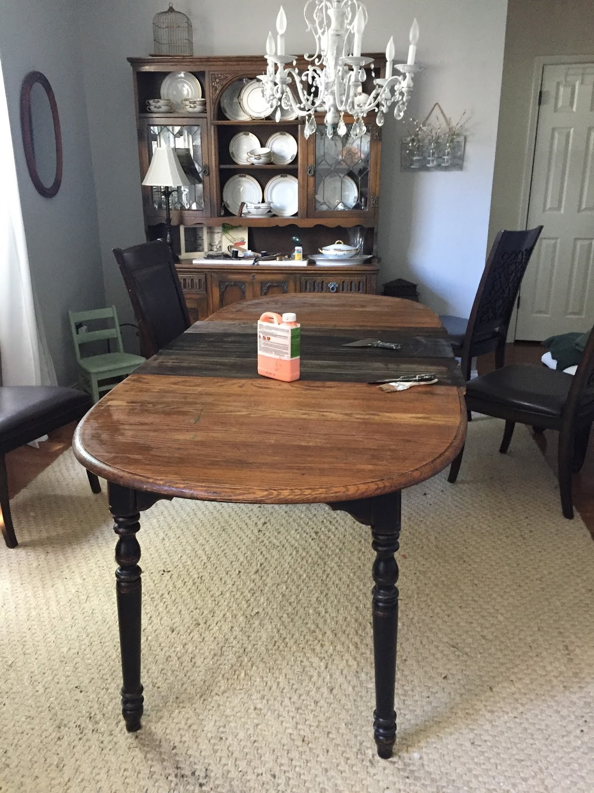 let 39 s add sprinkles refinishing the dining room table