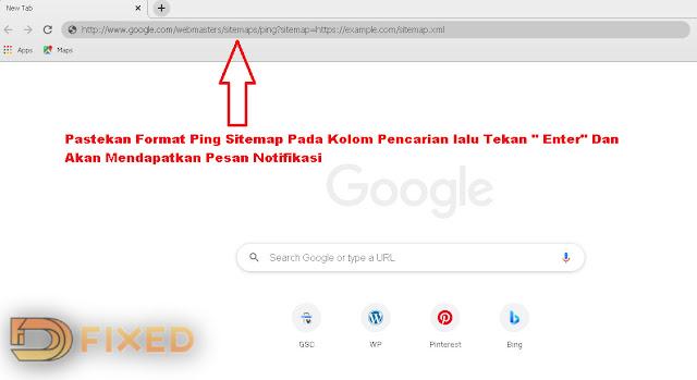 Cara ping sitemap ke Google Webmaster
