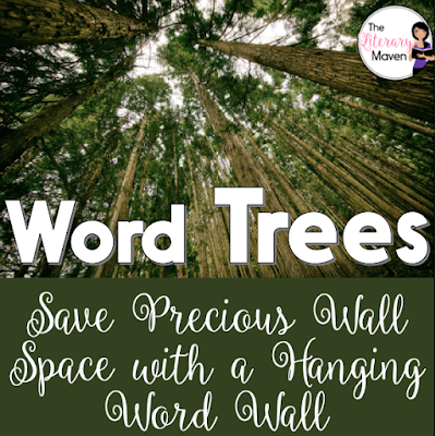 "Decorate your classroom a little differently this year by making a ""word tree"" instead of a word wall. Use it to hang vocabulary or display student work in a visually interesting way without using up any precious wall space."
