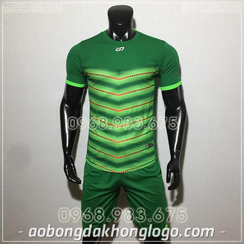 Áo bóng đá ko logo CP LEG màu xanh lá