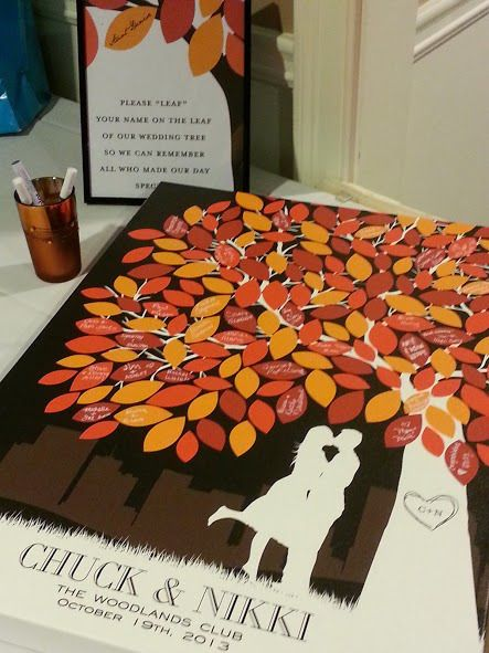 fall wedding guest book