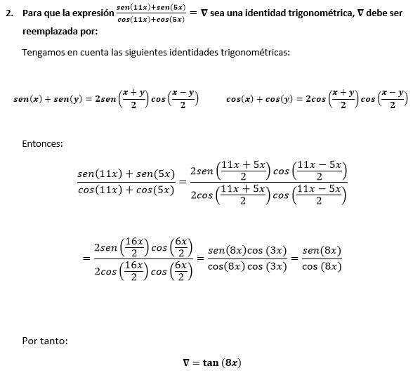 Solución Tema 2 Examen Matemáticas ESPOL 1S-2016