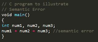 Semantic Error