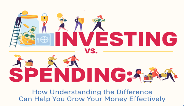 Investing Vs. Spending: Know the Difference to Help You Grow Your Money #infographic